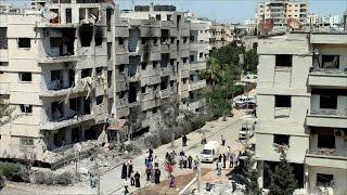 نظام الاسد يواصل قصفه على حي الوعر بحمص