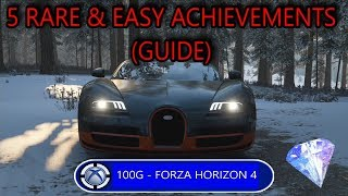 Forza Horizon 4 - 5 RARE but Easy Achievements (GUIDE)