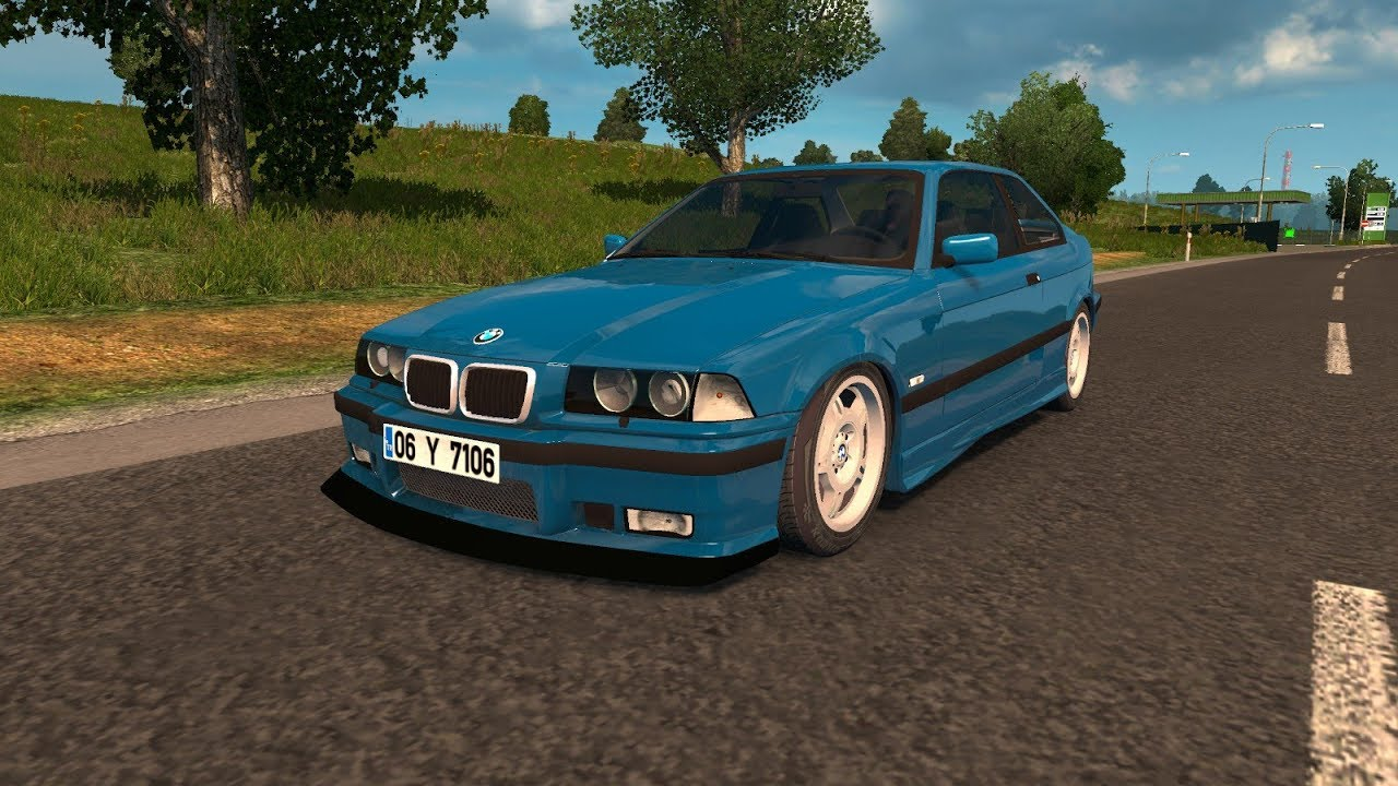 Ets 2 Mod Bmw E36 320i Euro Truck Simulator 2 1 30 Youtube