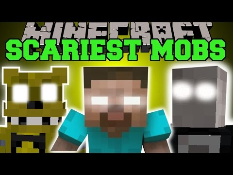 Minecraft: SCARIEST MOBS EVER (HEROBRINE, SLENDERMAN, GOLDEN FREDDY, & MORE!) Mod Scase
