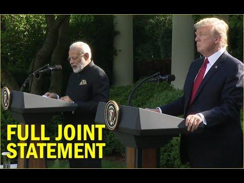 President Trump and PM Modi Joint Statement | FULL VIDEO | Trump-Modi meeting