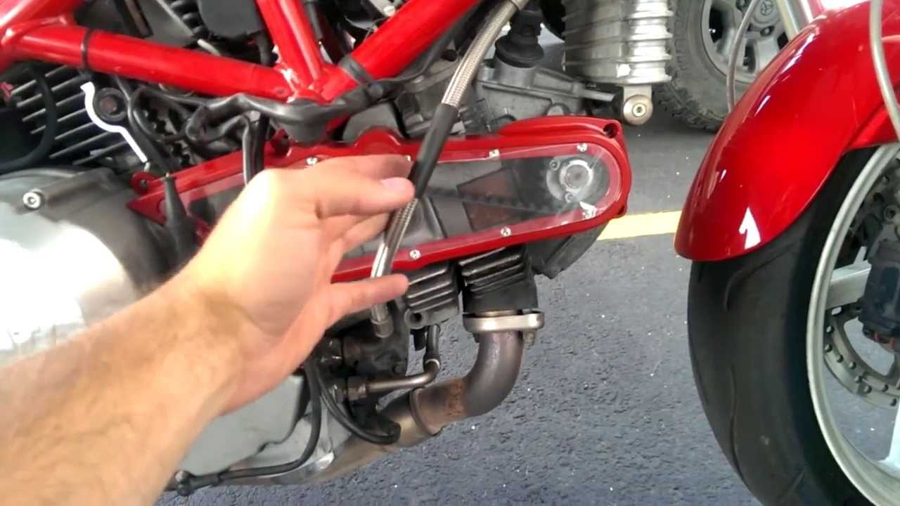 2006 ducati monster s2r clear timing belt cover mod - youtube