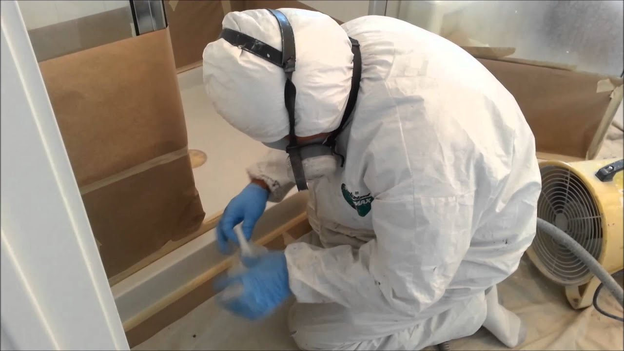 Surface Works Shower Pan refinishing - YouTube