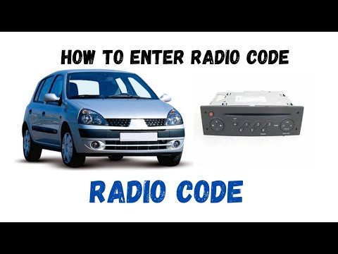 Renault Clio 1.2 how to enter radio codes.Reg.02