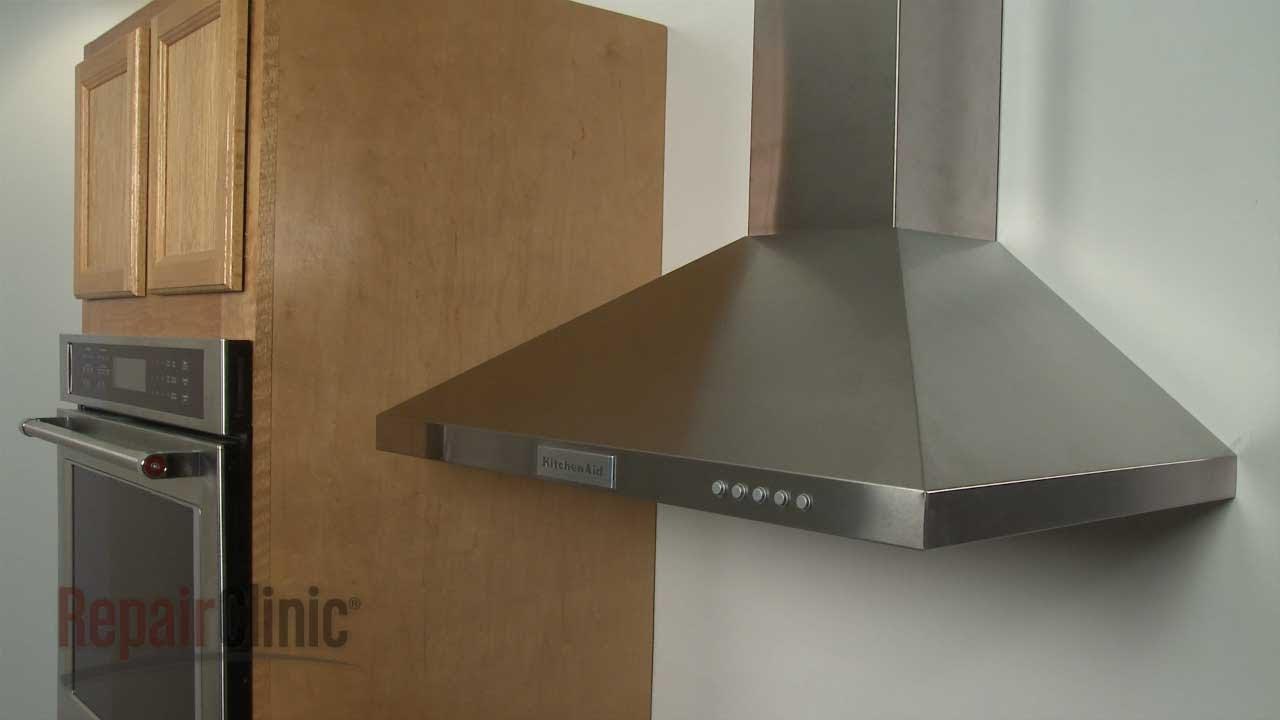 Kitchenaid Canopy Vent Hood Disembly - Model #KVWB400DSS - YouTube on