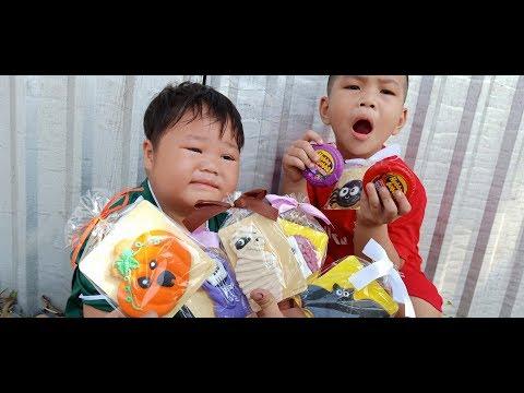 Đồ Chơi Trẻ Em Bé Pin 100% Kẹo Hallowen Hubba Bubba ❤ PinPin TV ❤ Baby Toys Candy