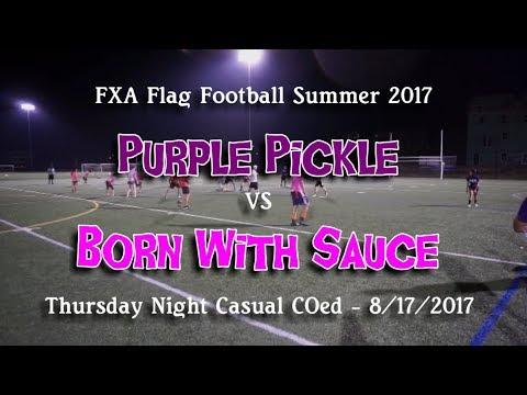 Download Summer '17 FXA Flag Football - Purple Pickle vs. Born With Sauce