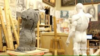 Лепка обрубовки торса - Обучение скульптуре. Фигура, 8 серия