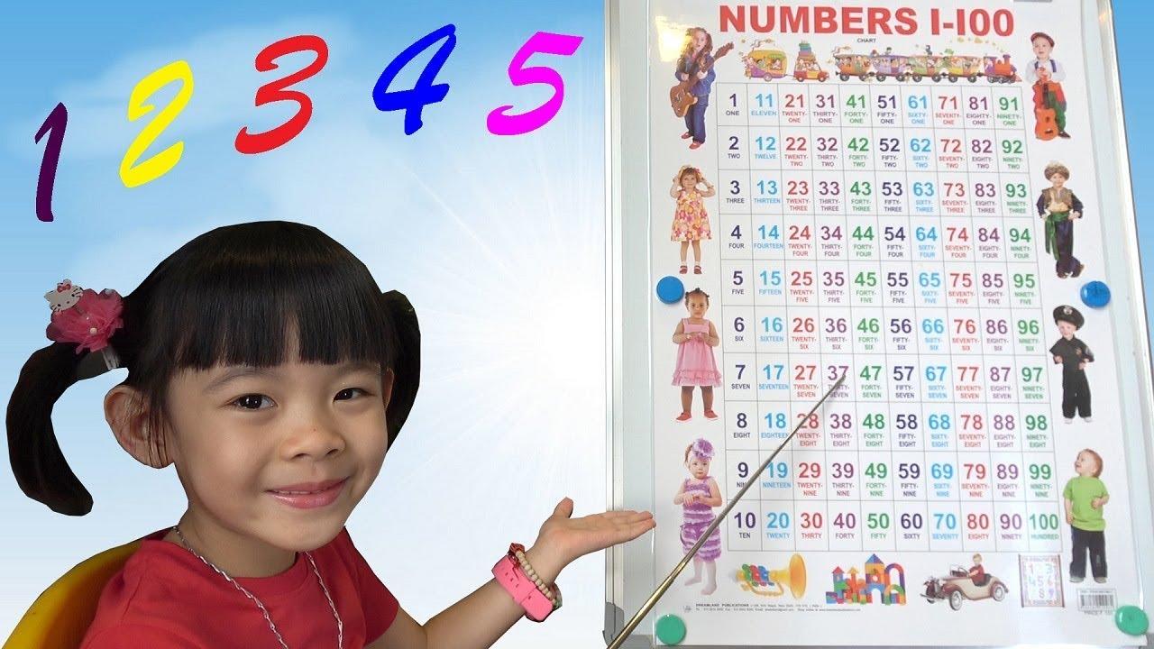 image Bé Học Đếm Bảng Chữ Số Tiếng Việt Từ 0 – 100 ❤ AnAn ToysReview TV ❤