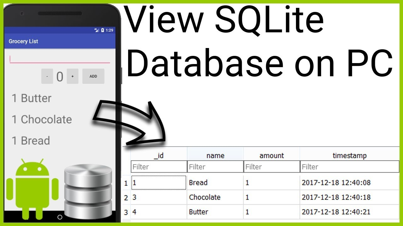 How to Open an SQLite Database from an Emulator on the Computer - Android  Studio Tutorial