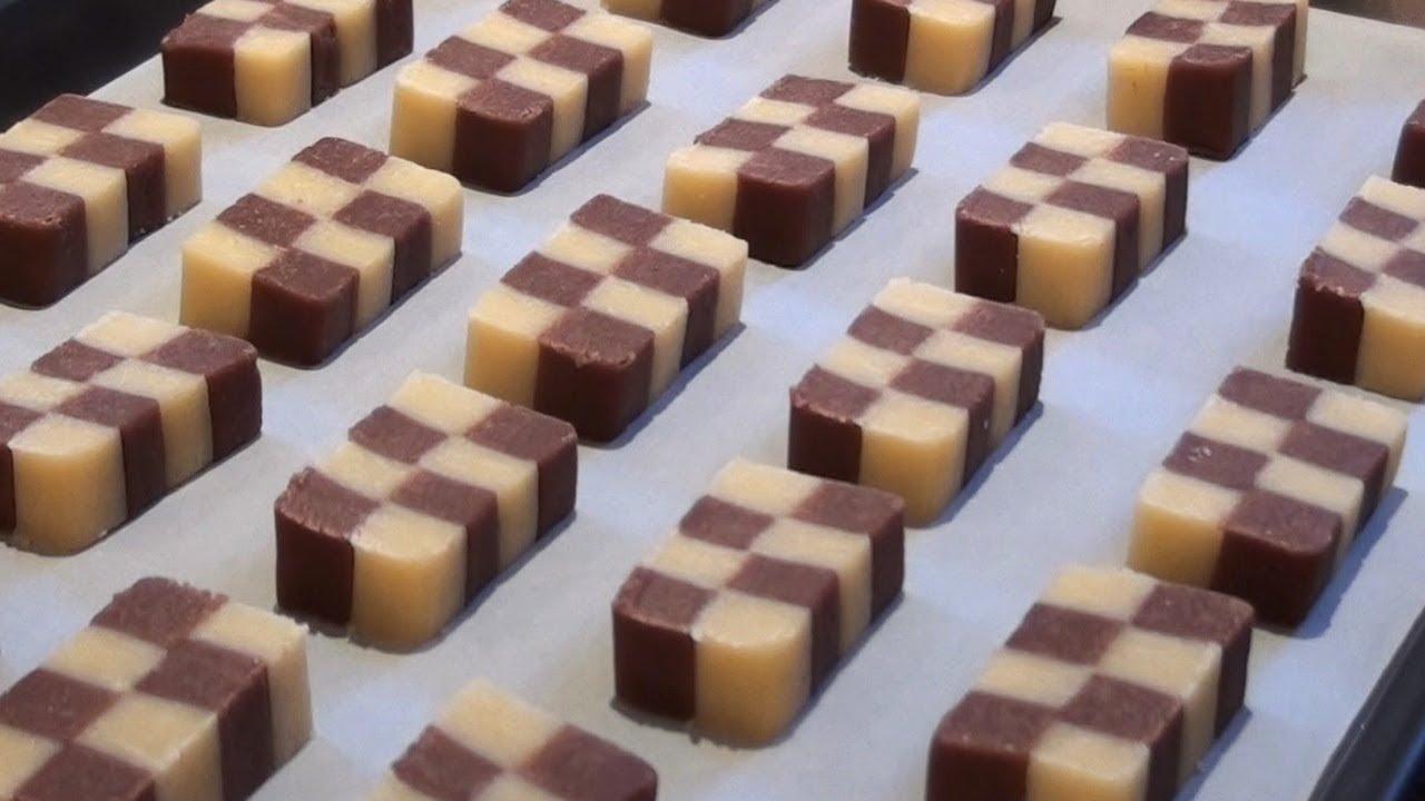 Checkerboard Cookies Recipe - YouTube