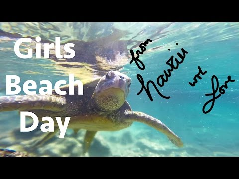 Girls Day Out at Turtle Beach - Hilo, Hawaii