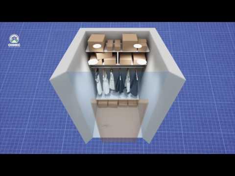 оформление гардеробной комнаты площадью 3