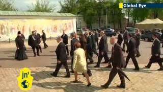 Joe Biden in Ukraine: US vice president visits Kiev monastery as Russia threatens to invade