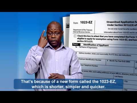 ASL: Form 1023-EZ (Captions & Audio) - YouTube