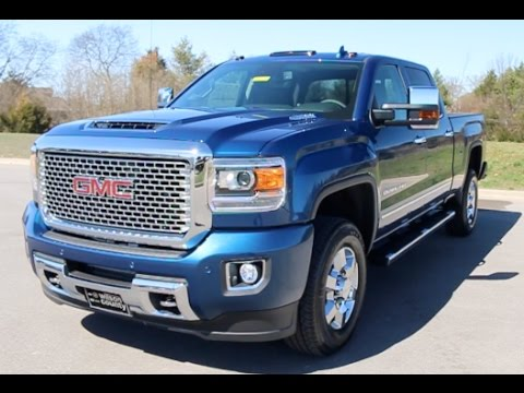 2017 Gmc Sierra 3500hd Crew Cab Denali 6 6l Duramax 4x4 Stone Blue Metallic At Wilson County Tn