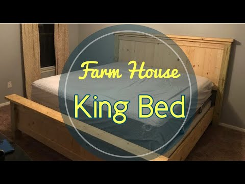 How To Build A King Bed |DIY Farmhouse Bed Frame
