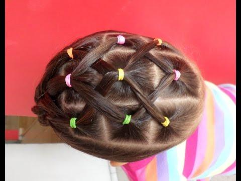 Peinados para ninas cabello corto con cauchos