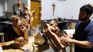 Tallista Álvaro Berrocal devastado de esquinero