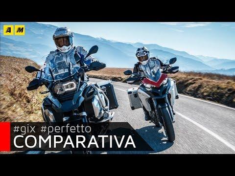 BMW R 1250 GS Adventure vs Ducati Multistrada 1260 Enduro TEST: Sfida Maxi Enduro Top [ENGLISH SUB]