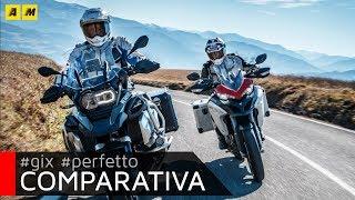BMW R 1250 GS Adventure Vs Ducati Multistrada 1260 Enduro TEST Sfida Maxi Enduro Top ENGLISH SUB