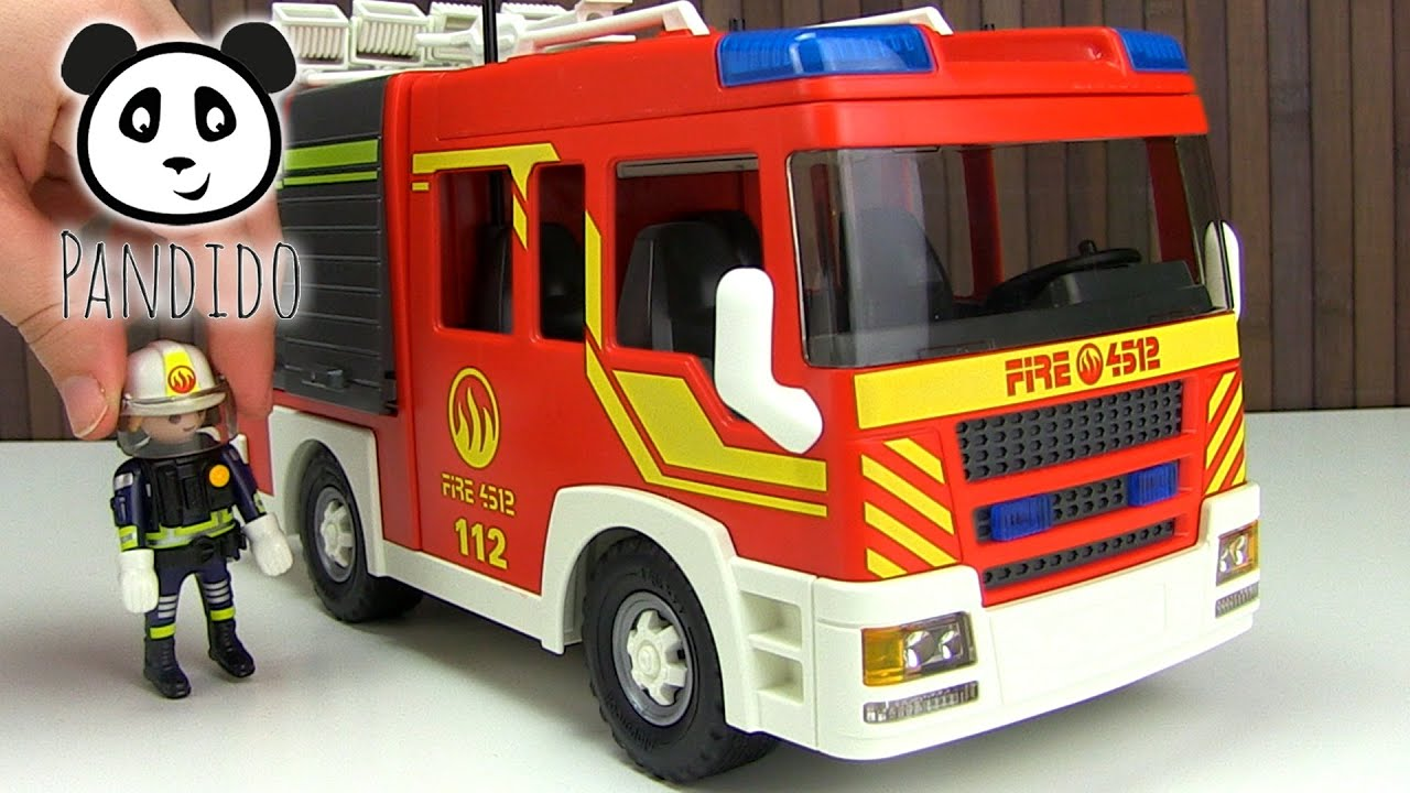 playmobil feuerwehr l schgruppenfahrzeug licht und sound. Black Bedroom Furniture Sets. Home Design Ideas