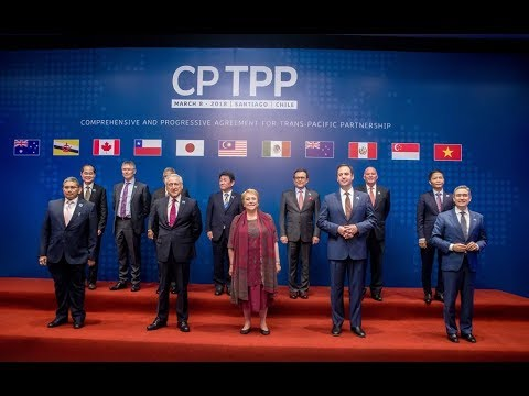 CPTPP Signing Ceremony - Santiago, Chile - march 8 2018