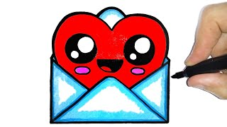 HOW TO DRAW A CUTE ENVELOPE