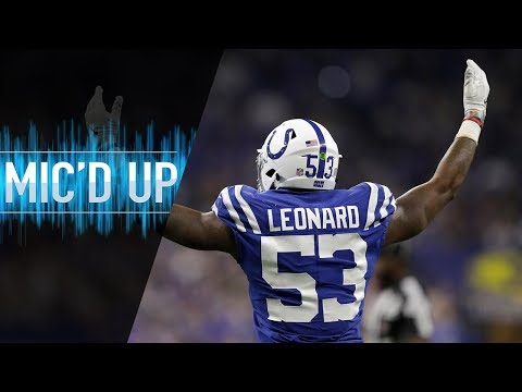 "Darius Leonard Mic'd Up vs. Dolphins ""Kenny! I'll give you a dollar if you drop it!"" 