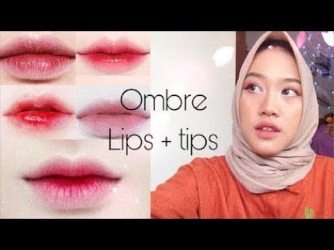 tutorial-ombre-lips-untuk-bibir-yang-hitam-|-4-look-daily-ombre-lips-|-wardah-pixy-maybelline-revlon