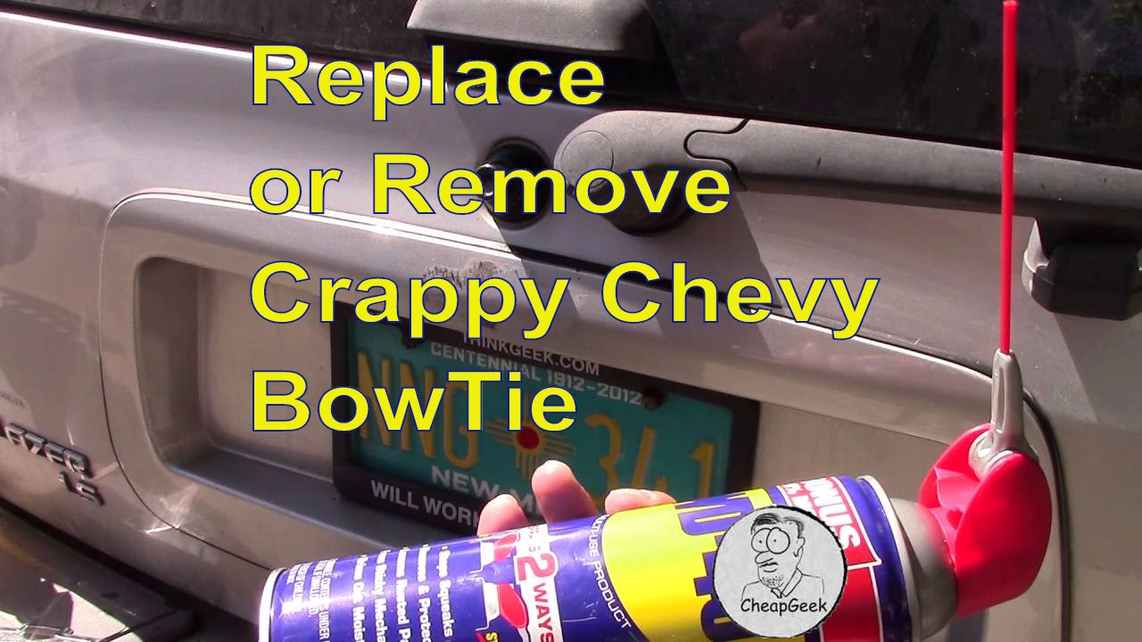 Remove or Replace your CRAPPY Chevy bowtie emblem