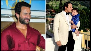 Saif ali khan talks about spending time with son taimur ali khan