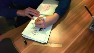 Drawing Graffiti: Tariq & Saskia