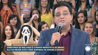 Baixar Domingo Show prepara surpresa para Geovana, a menor repentista do Brasil