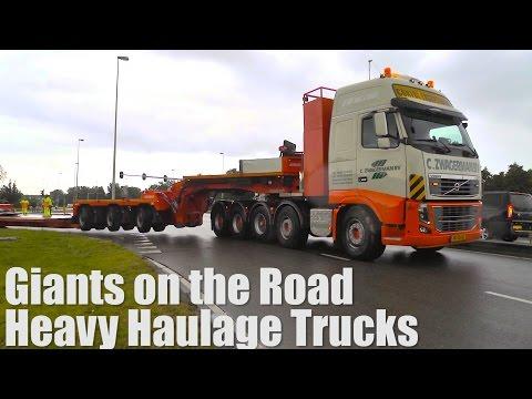 Gigants on the Road, Extreme Heavy Haulage Trucks. 9 axle+