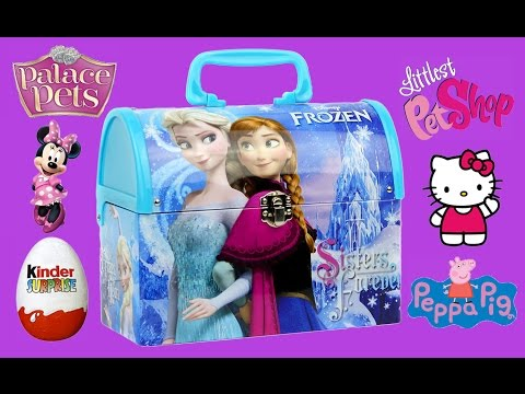 FROZEN SURPRISES Elsa Box LITTLEST PET SHOP Hello Kitty Minnie Mouse Peppa Pig Cars Eggs Toys