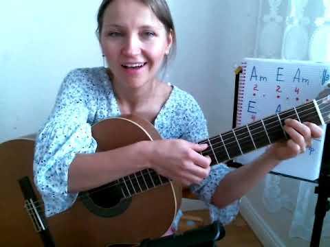 Всего ДВА АККОРДА/ ДЕТСКАЯ ПЕСНЯ/ Виноватая тучка / Как играть на гитаре