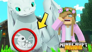 OUR LIGHT FURY DRAGON IS PREGNANT | Minecraft DRAGONS w/ Little Kelly