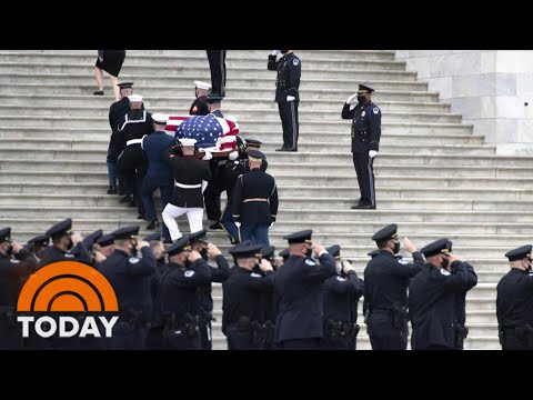 Slain Police Officer Evans Lies In Honor In Capitol Rotunda   TODAY