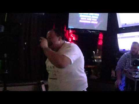 """Running Away"" Karaoke by Hoobastank / Sung by Hector"