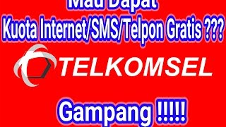 Cara Dapat Kuota Internet/Sms/Telepon Gratis Telkomsel April 2017 !!!