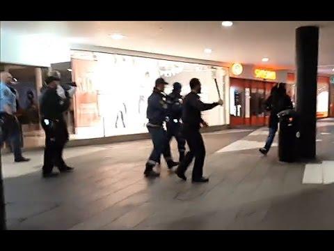 Swedish far-Right mob attacks migrants