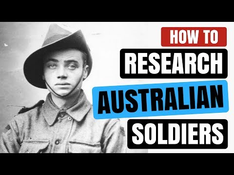 How to Research an Australian Soldier