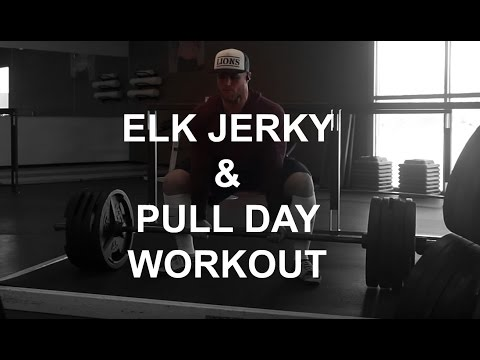 Elk Jerky, Hunting & Pull workout.