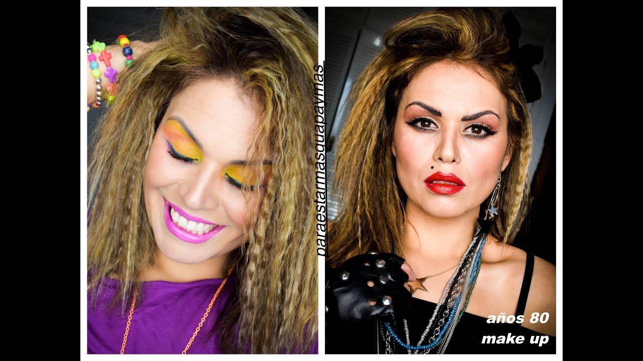 Años 80 Maquillaje Peinado Disfraz Youtube