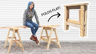 HEAVY DUTY DIY Folding Sawhorses