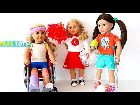 Thumbnail: Baby Doll School Sports Accident - Playing AG Dolls school day & Sports Accident