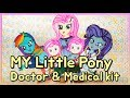 MY LITTLE PONY EQUESTRIA GIRLS RARITY AND RAINBOW DASH PAPER DOLL DOCTOR & MEDICAL KIT