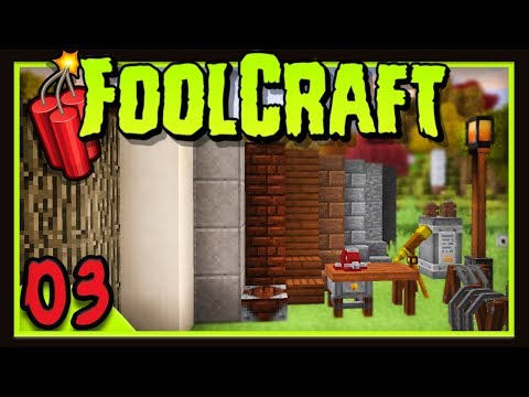 Foolcraft 3: Base Design Ideas!   (Minecraft Modded Survival Ep 3)