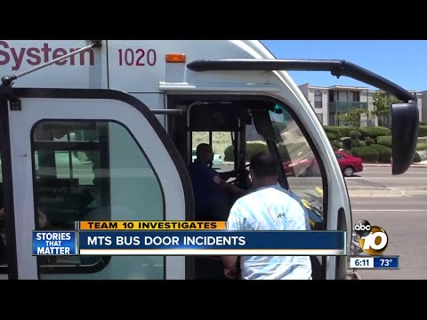 MTS bus door incidents show passengers being struck
